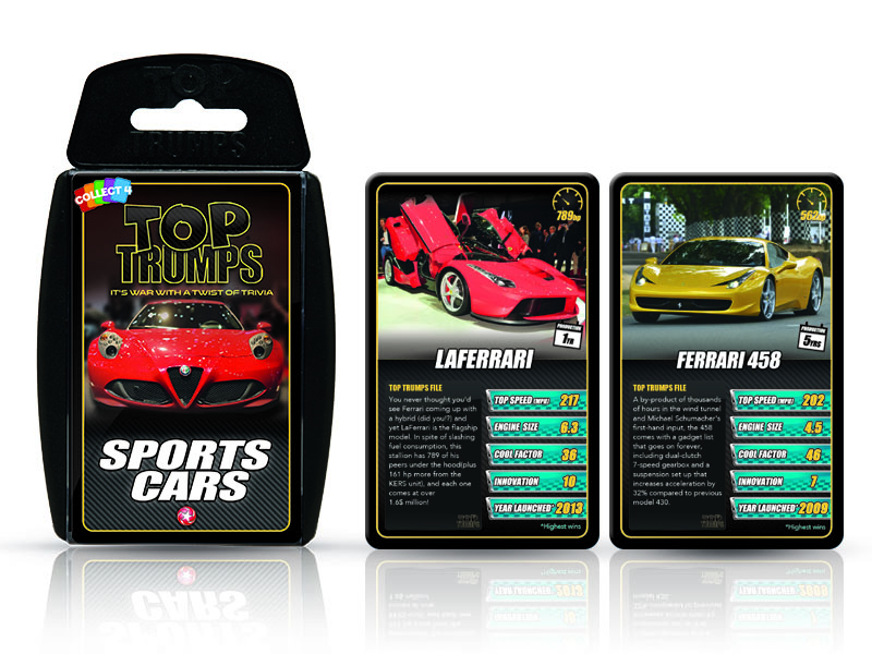 sports car top trumps