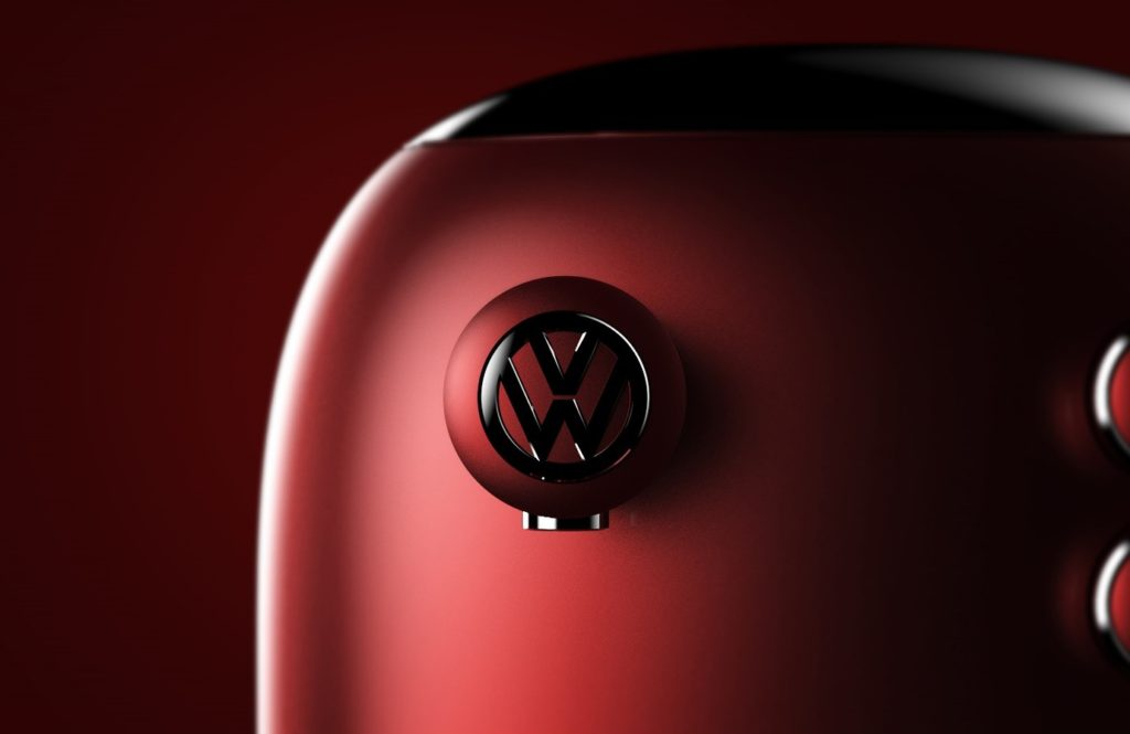 VW coffee machine close up