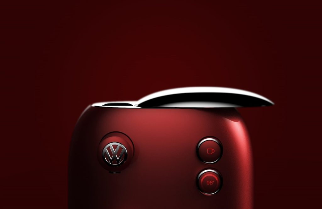 VW coffee machine's sliding cover