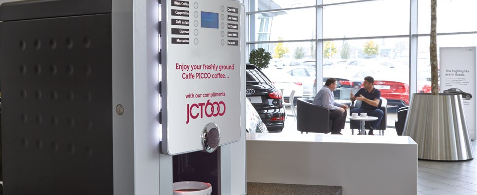 JCT600 car dealership - coffee machine