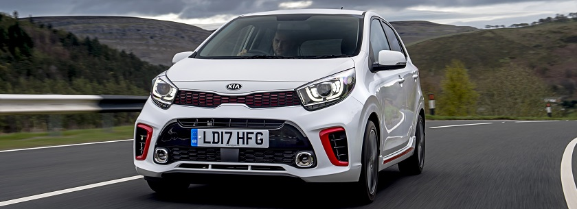 Kia Picanto in white