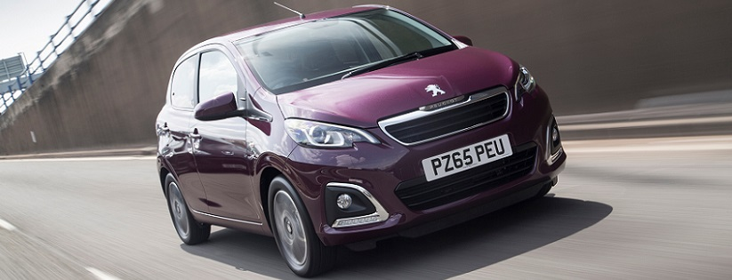 Peugeot 108 in purple