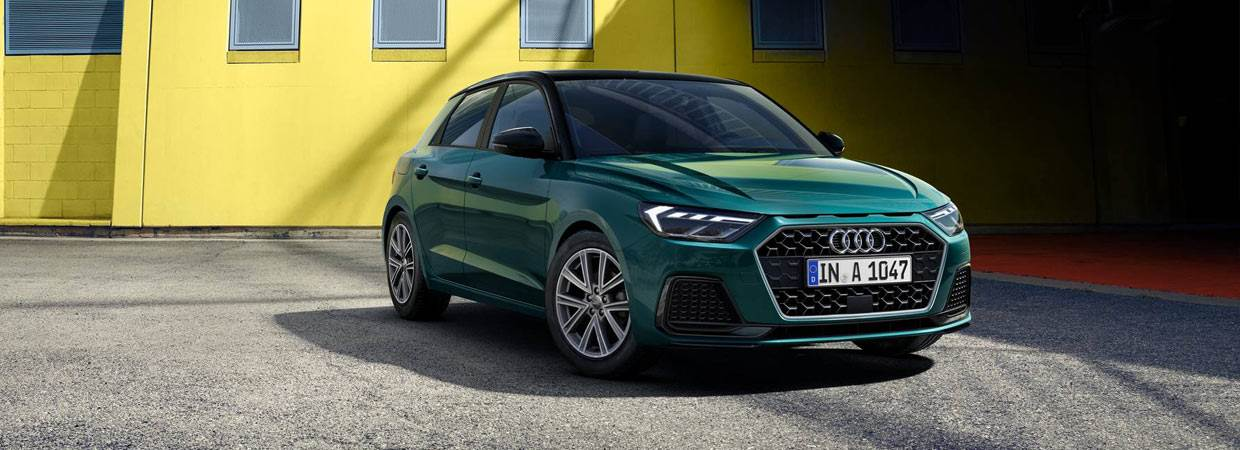 New Audi A1 in green