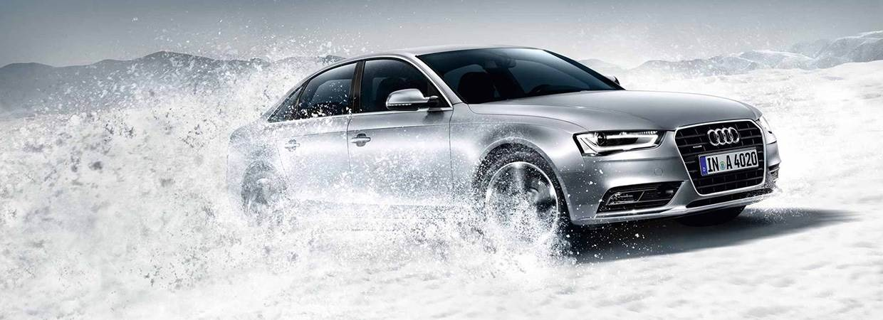 New Audi A4 in silver
