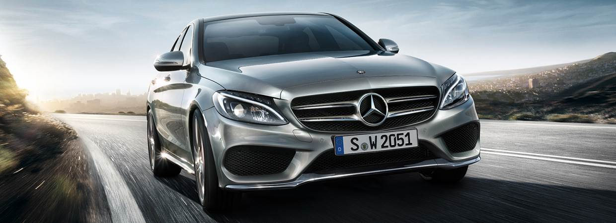 New Mercedes-Benz C-Class in silver