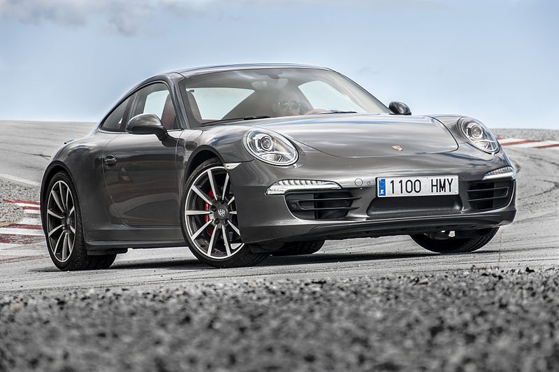 Porsche 911 Carrera 4S with blurred foreground