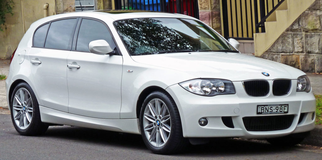 bmw 1 series - white