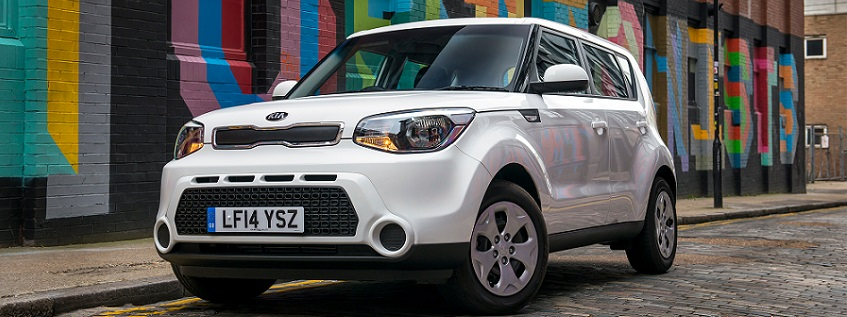 New Kia Soul in white
