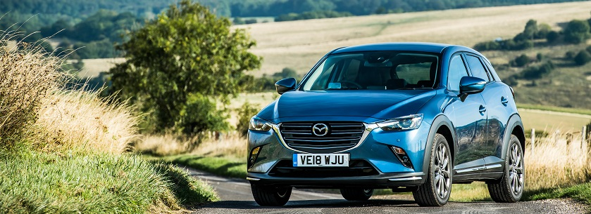 New Mazda CX3 in blue
