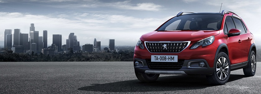 New Peugeot 2008 in red