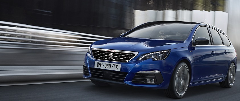 New Peugeot 308 in blue