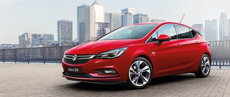 New Vauxhall Astra in red