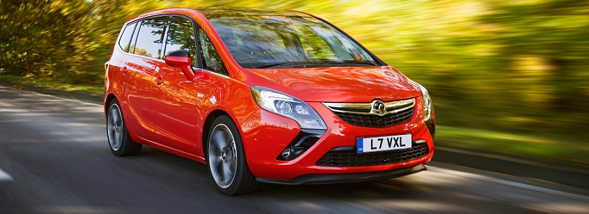 New Vauxhall Zafira in red