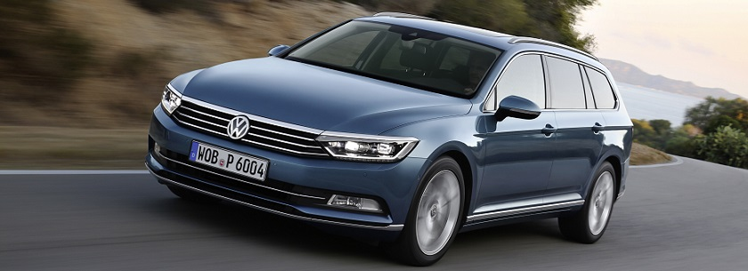 New Volkswagen Passat in blue
