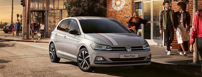 New Volkswagen Polo in silver