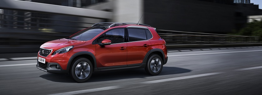 Peugeot 2008 in red