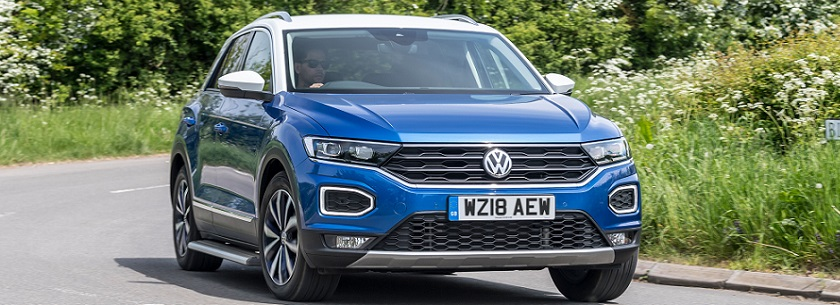 Volkswagen T-Roc in blue