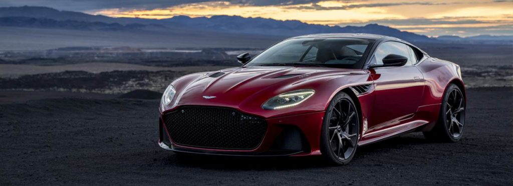 Wine red Aston Martin DBS Superleggera