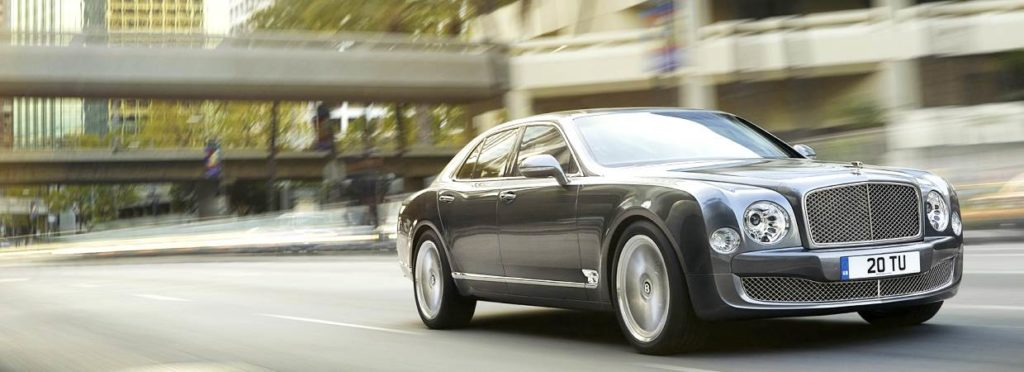 Bentley Mulsanne driving through city