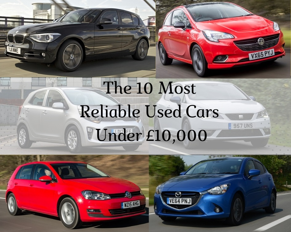 The 10 Most Reliable Used Cars Under £10,000