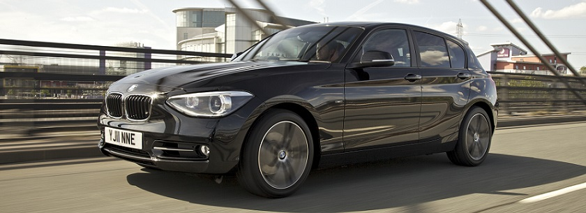 BMW 1 Series in black