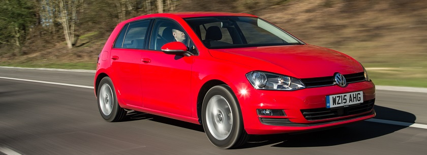 Volkswagen Golf in red