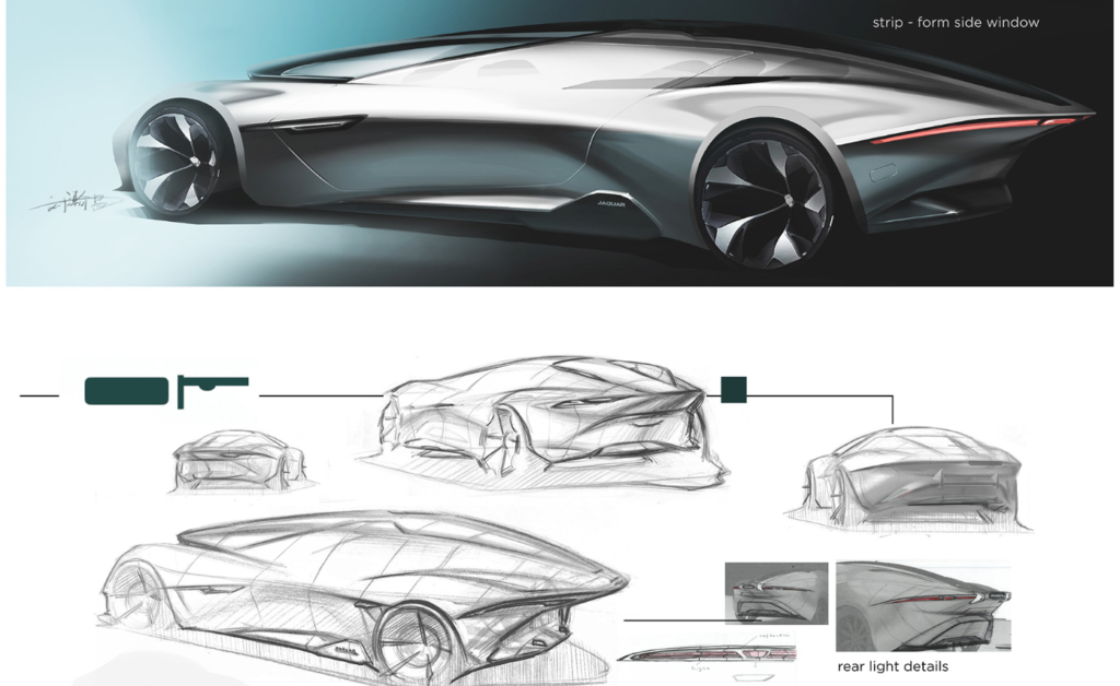 Jaguar Consul concept sketches