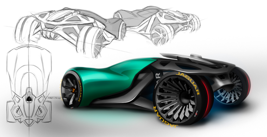 Jaguar Naked concept sketches and render