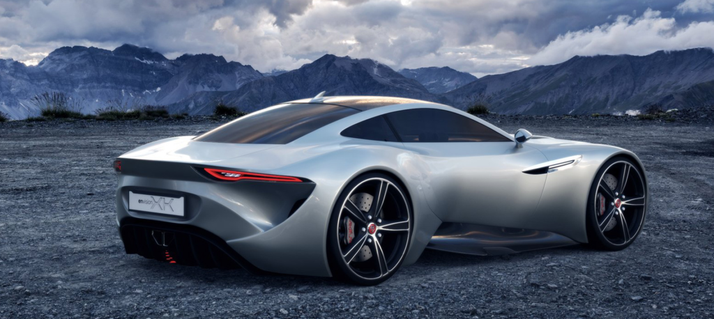 Jaguar 'Envision XK' concept render with mountains in background