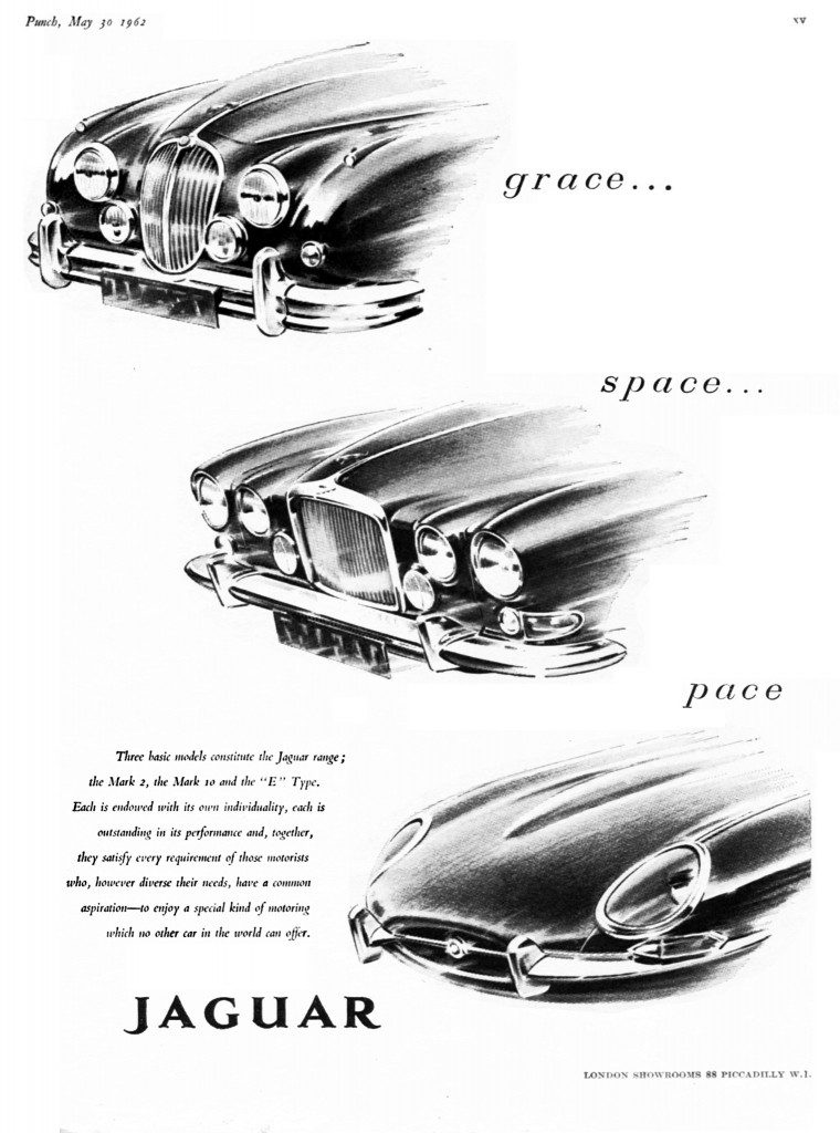 Jaguar - grace, space, pace advert