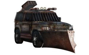 Zombie proof car - front view