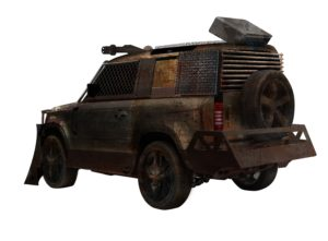 zombie-proof car - rear view