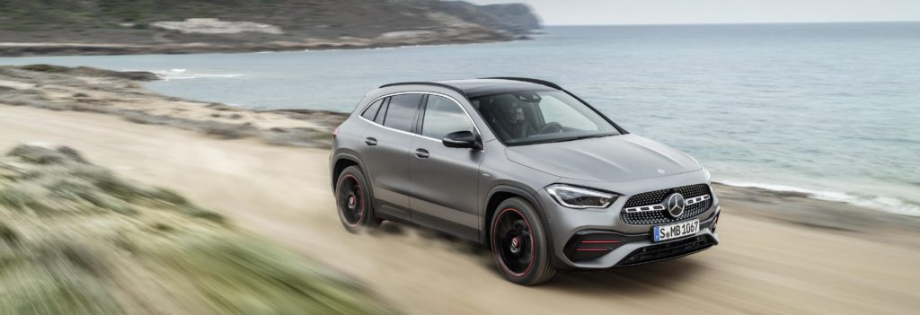 grey mercedes-benz gla suv